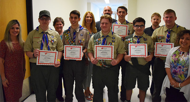 Honoring Eagle Scouts Photo